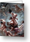 Nudes Greeting Cards - Fausts Vision Greeting Card by Luis Riccardo Falero