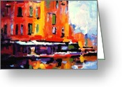 Chromatic Painting Greeting Cards - Fauvo Porto Greeting Card by R W Goetting