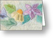 Blooming Tapestries - Textiles Greeting Cards - Favourite Lacy Blooms Greeting Card by Denise Hoag