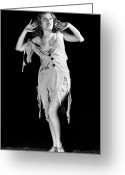 Damsel In Distress Greeting Cards - Fay Wray (1907-2004) Greeting Card by Granger