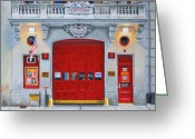 New York City Painting Greeting Cards - FDNY Engine Company 65 Greeting Card by Paul Walsh
