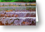 Fdr Greeting Cards - FDR Memorial Falls Panoramic Greeting Card by Jim Carrell