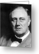 Democrats Greeting Cards - Fdr Greeting Card by War Is Hell Store