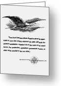 Eagle Art Greeting Cards - FDR War Quote Greeting Card by War Is Hell Store