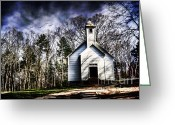Churchyard Greeting Cards - Fear Greeting Card by Darren Fisher