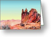 Tj Shinas Greeting Cards - Feather Canyon  Greeting Card by TJ Shinas
