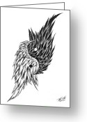Equilibrium Greeting Cards - Feathered Ying Yang  Greeting Card by Peter Piatt