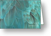 Feathery Greeting Cards - Feathery Turquoise Greeting Card by Sabrina L Ryan