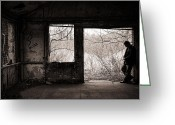 Abandoned Buildings Greeting Cards - February Greeting Card by Gary Heller