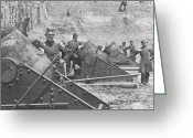 Mathew Greeting Cards - Federal Siege Guns Yorktown Virginia during the American Civil War Greeting Card by Mathew Brady