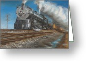 Freight Greeting Cards - Feel the Ground Shake Greeting Card by Christopher Jenkins