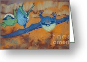 Bat Pastels Greeting Cards - Feelin Batty Greeting Card by Tracy L Teeter