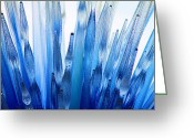 Arboretum Greeting Cards - Feeling Blue Greeting Card by Elizabeth Budd