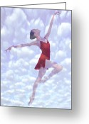 Ballet Dancer Greeting Cards - Feels like Heaven Greeting Card by Stefan Kuhn