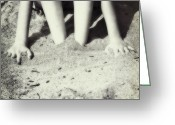 Young Teen Greeting Cards - Feet In The Sand Greeting Card by Joana Kruse