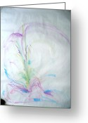 Spiritual Art Pastels Greeting Cards - Female blossoms Greeting Card by Tami Epstein