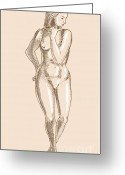 Anatomy Greeting Cards - Female Human Anatomy Greeting Card by Aloysius Patrimonio