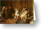Choosing Greeting Cards - Female Slaves Presented to Octavian Greeting Card by Remy Cogghe