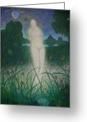 Magic Pastels Greeting Cards - Female Spirit Rising  Greeting Card by Andy  Mercer