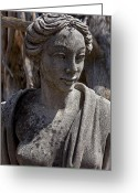 Statues Greeting Cards - Female statue Greeting Card by Garry Gay