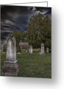 Haunted  Digital Art Greeting Cards - Femme Osage Cemetery Greeting Card by Bill Tiepelman