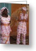 La Maison Des Esclave Greeting Cards - Femmes de Goree Greeting Card by Fania Simon