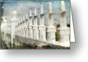 Fence Greeting Cards - Fence Line II Greeting Card by Rebecca Cozart