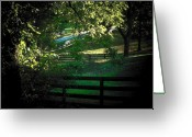 Shenandoah Greeting Cards - Fences on the Farm Greeting Card by Joyce L Kimble