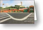 Boston Stadium Greeting Cards - Fenway Park III Greeting Card by Clarence Holmes