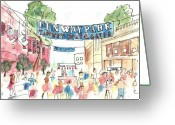 Boston Greeting Cards - Fenway Park Greeting Card by Matt Gaudian