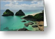 Tropical Climate Greeting Cards - Fernando De Noronha Archipelago Tropical Island Greeting Card by by Roberto Peradotto