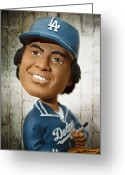 Baseball Print Greeting Cards - Fernandomania II Greeting Card by Ricky Barnard