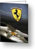 Enzo Ferrari Greeting Cards - Ferrari 360 Spider F1 Greeting Card by Gordon Dean II