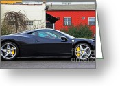 Ferrari 458 Greeting Cards - Ferrari 458 Italia Greeting Card by Andrew  Cragin