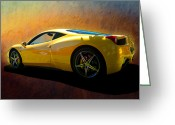 Ferrari 458 Greeting Cards - Ferrari 458 Italia Greeting Card by Stuart Row