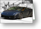 Ferrari 458 Greeting Cards - Ferrari 458 Italia  Greeting Card by Sunil Bhardwaj