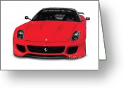 Super Car Greeting Cards - Ferrari 599XX Greeting Card by Oleksiy Maksymenko