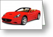 Super Car Greeting Cards - Ferrari California Greeting Card by Oleksiy Maksymenko