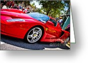 Enzo Ferrari Greeting Cards - Ferrari Greeting Card by Daniel  Watson 