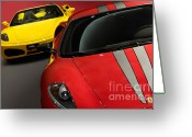 Showcase Greeting Cards - Ferrari F430 Scuderia Greeting Card by Oleksiy Maksymenko
