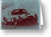 Italian Classic Cars Greeting Cards - Ferrari GTO Greeting Card by Irina  March