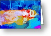 Ferrari Gto Classic Car Greeting Cards - Ferrari pit stop Greeting Card by Irina  March