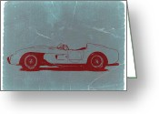 Italian Classic Cars Greeting Cards - Ferrari Testa Rosa Greeting Card by Irina  March