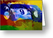 Ferrari Digital Art Greeting Cards - Ferrari Testarossa Watercolor Greeting Card by Irina  March