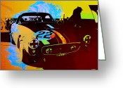 Ferrari Digital Art Greeting Cards - Ferrari Watercolor Greeting Card by Irina  March