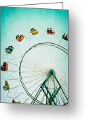 Fairgrounds Greeting Cards - Ferris Wheel 2 Greeting Card by Kim Fearheiley