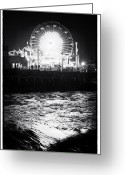 Night Shots Greeting Cards - Ferris Wheel at Night Greeting Card by John Rizzuto