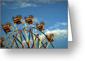 Amusement Parks Greeting Cards - Ferris Wheel Greeting Card by Benanne Stiens