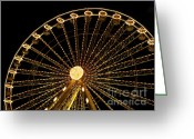 Fair Greeting Cards - Ferris wheel Greeting Card by Bernard Jaubert