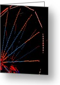 Ferris Wheels Greeting Cards - Ferris Wheel Greeting Card by Dana  Oliver